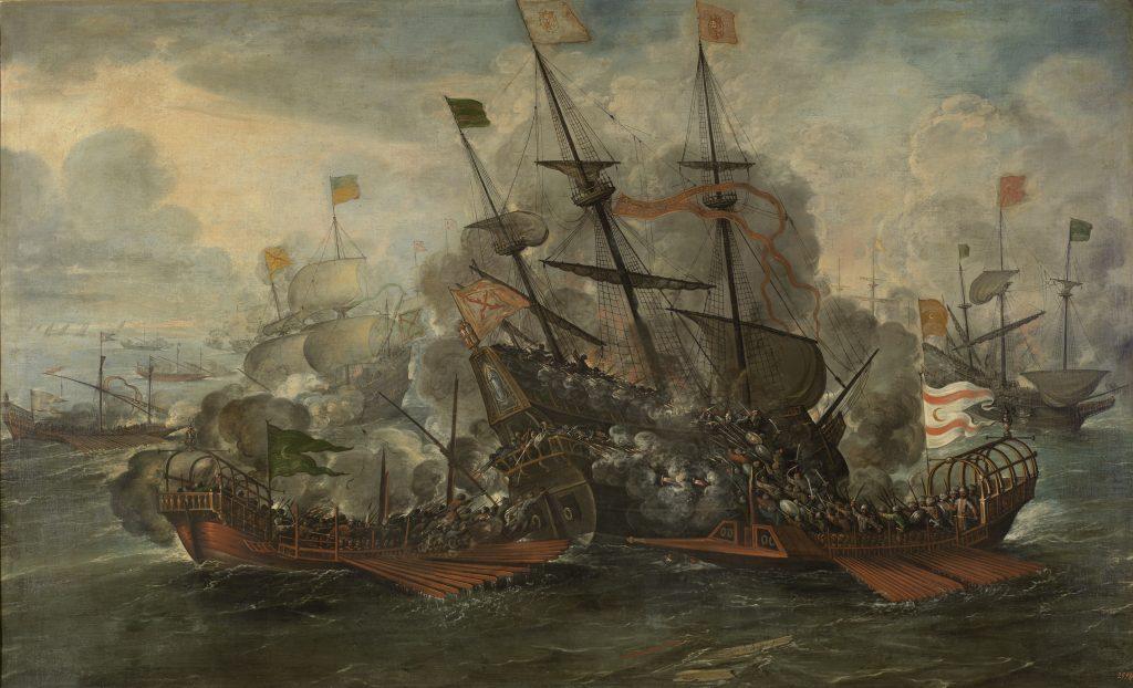 Combate naval. Juan de la Corte
